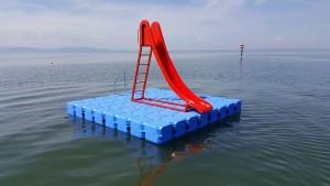 Ponton Schwimmkörper Badeinsel am Bodensee