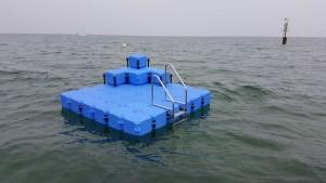 JETfloat Ponton Schwimminsel 3m x 3m