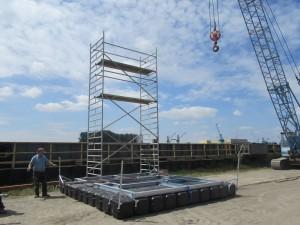 Arbeitsplattform Pontons am Bremerhaven