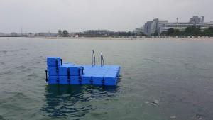 JETfloat Ponton Schwimmkörper Schwimminsel Ostsee Resort Damp
