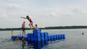 Ponton Badeinsel Schweriner See