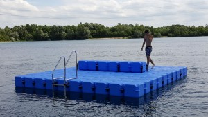 JETfloat Ponton Schwimminsel Echinger See