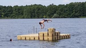 Ponton Schwimmkörper Badeinsel Dümmersee