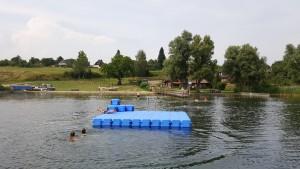 Schweriner See Ponton Badeinsel aus JETfloat Schwimmkörpern