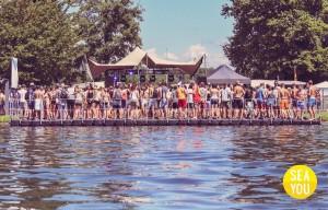 Schwimmende Ponton Bühne