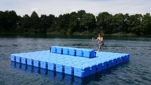 Ponton Schwimminsel Ponton See