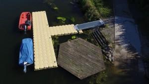 Bootsanleger für Rettungsboote - Ponton Schwimmkörper