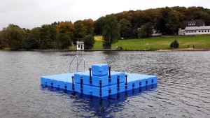 Ponton Schwimminsel Campingplatz Heisterberger Weiher