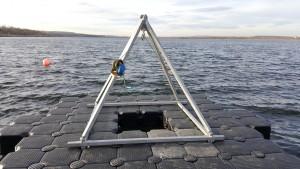 Arbeitsbuehne Bergeponton für Arbeiten im Wasser