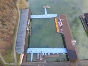Steganlage für Eisschwimmen Burghausen Ponton Schwimmkörper