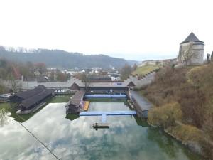 JETfloat Ponton Steganlage für Ice Swimming Aqua Sphere World Championships
