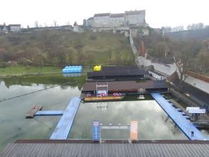 JETfloat Pontonsteg für Ice Swimming Aqua Sphere World Championships