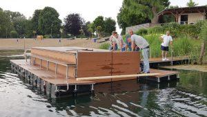 Bootsgarage aus Kunststoff Schwimmkörpern