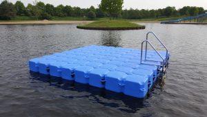 Schwimminsel Baggersee Großsander
