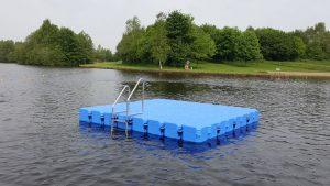 Ponton Schwimmkörper Schwimminsel Baggersee Großsander