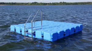 Ponton Schwimmkörper Badeinsel 3x3 Meter