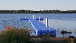 Kunststoff Schwimmkörper Schwimmplattform Steg Dreiweiberner See