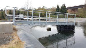 Arbeitsbrücke Kläranlage Malsfeld - Duwe & Partner Ponton Schwimmkörper