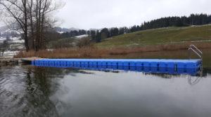 Schwimmsteg Badesteg Niedersonthofener See Ponton Schwimmkörper