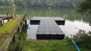 Jetfloat Anglersteg aus Kunststoff Schwimmkörpern bauen