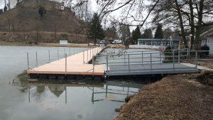 LaGa 2018 Bad Iburg – Ponton Steg mit Edelstahl Zugangsbrücke