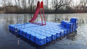 Jetfloat Ponton Schwimminsel Meerhofsee - Duwe & Partner