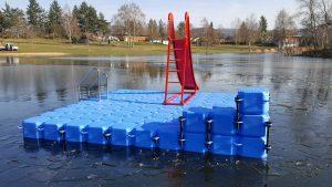 JETfloat Ponton Schwimminsel im Meerhofsee Alzenau 5m x 5m