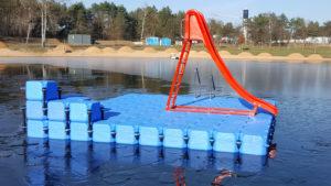 JETfloat Ponton Badeinsel mit Rutsche 5m x 5m Alzenau Meerhofsee
