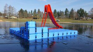 Ponton Schwimmkörper Badeinsel von Duwe & Partner aus JETfloat Pontons