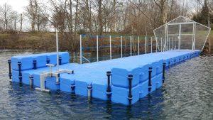Übungssteg für Taucher des Tauchclubs Beluga in Aurich - Tauchponton