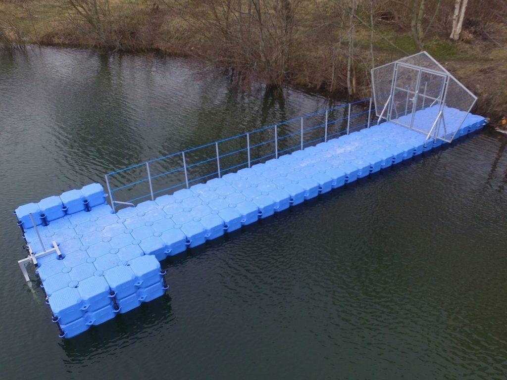 JETfloat Tauchersteg aus Schwimmkörpern in Aurich am Badesee
