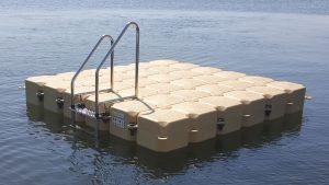 Kunststoff Badeinsel 3m x 3m in Bosau mit Duwe & Partner bauen