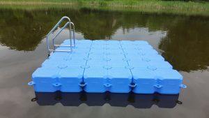 Kunststoff Badeinsel 3m x 3m in Witzin am Natursee mit Duwe & Partner bauen