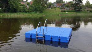 Ponton Schwimmkörper Badeinsel von Duwe & Partner in Witzin