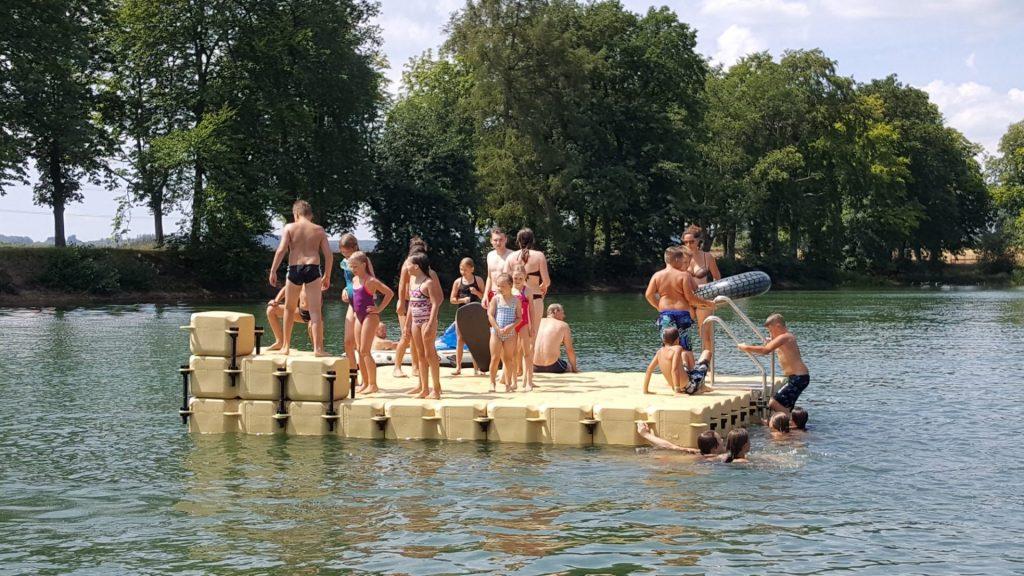 JETfloat Badeinsel bauen mit Duwe & Partner