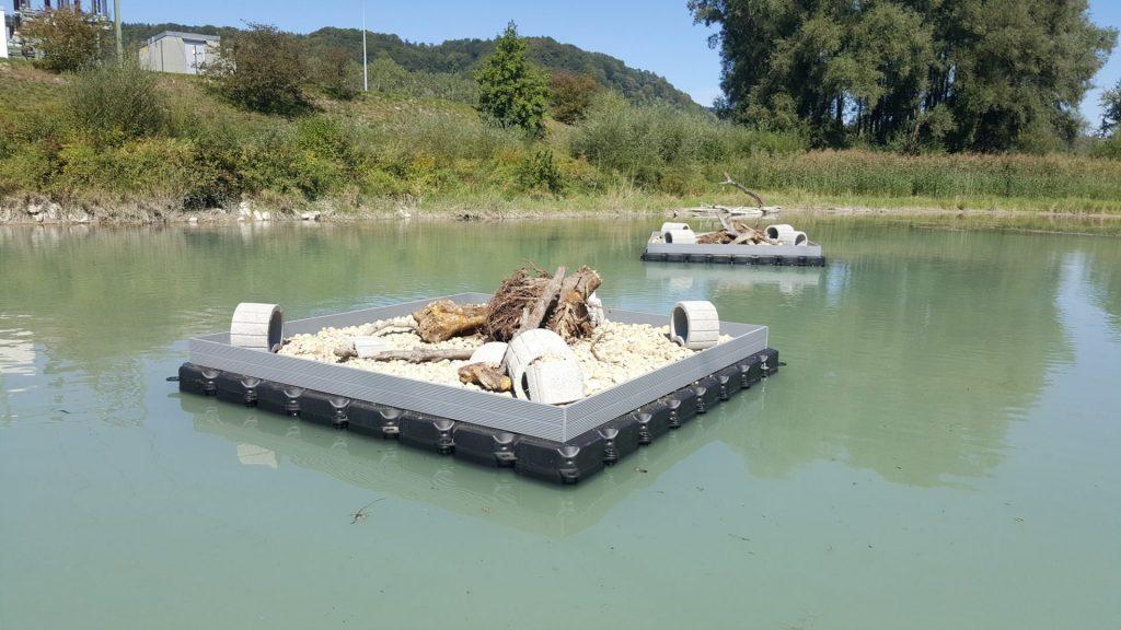 Künstliche Brutinsel / Vogelbrut Insel bauen zum Nisten und Brüten von Wasservögeln