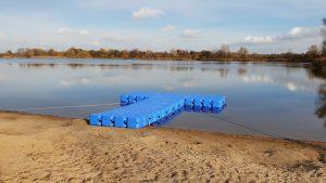 Schwimmsteg für DLRG Rettungsboot bauen mit Duwe & Partner