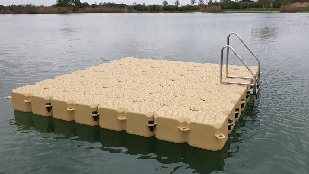 Schwimmkörper Badeinsel in der Farbe Sand