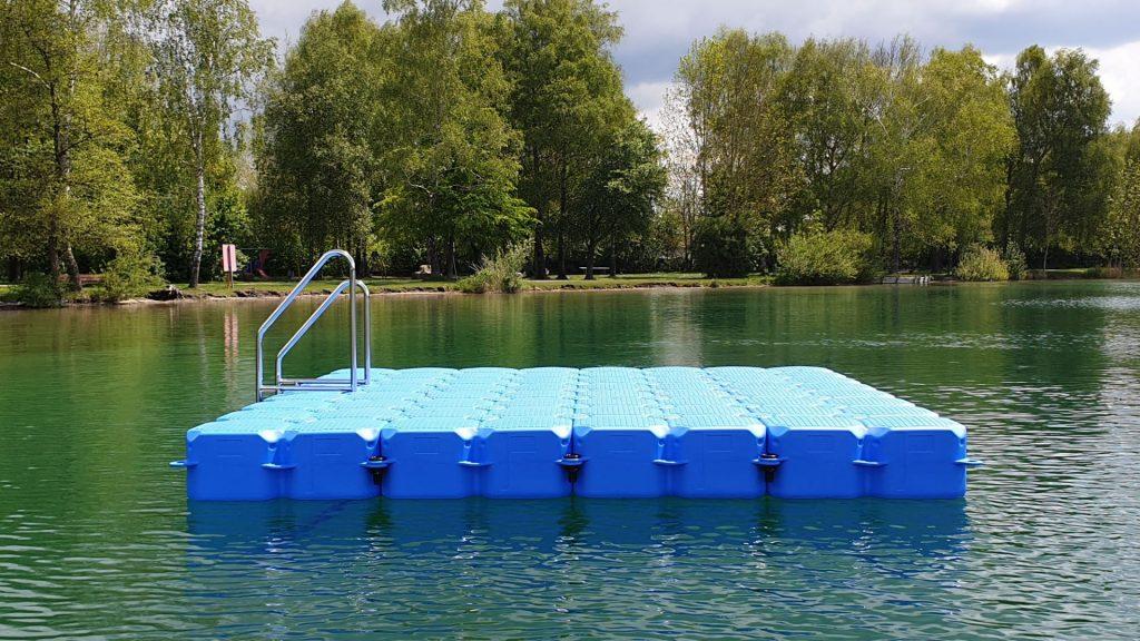 Ponton Schwimmelemente für Schwimminsel auf dem Olchinger See