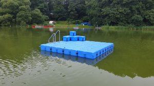 Ponton Schwimminsel von Duwe & Partner in Wittenborn