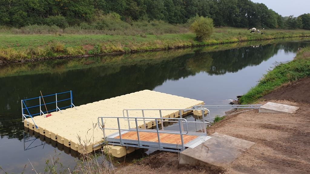 Stege bauen für Kanus und Boote aus Duwe Pontons